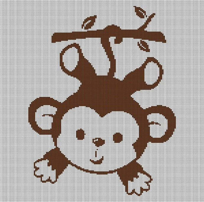 BABY MONKEY CROCHET AFGHAN PATTERN GRAPH