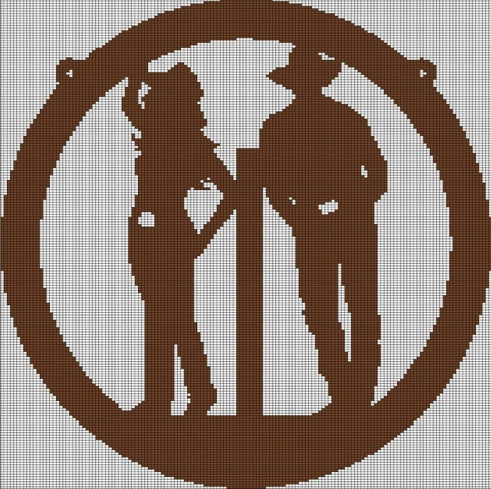 COWBOY AND COWGIRL CROCHET AFGHAN PATTERN GRAPH
