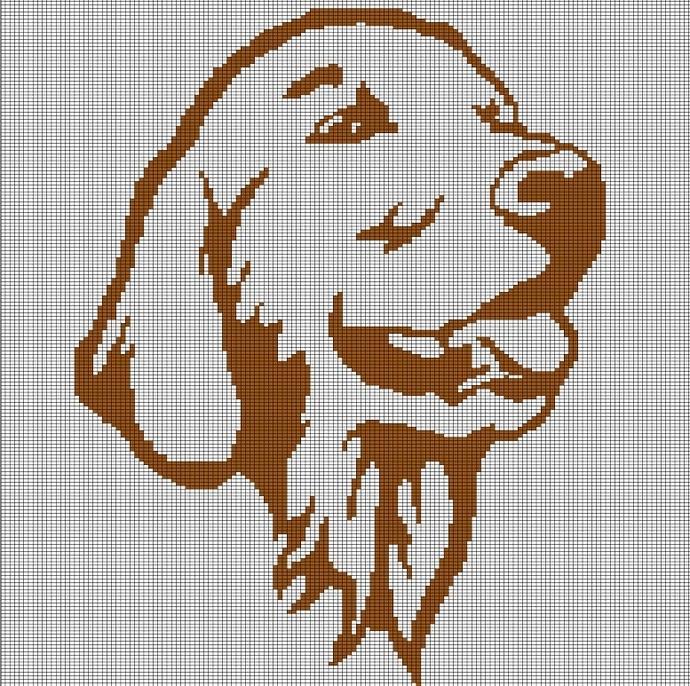 BROWN DOG HEAD CROCHET AFGHAN PATTERN GRAPH