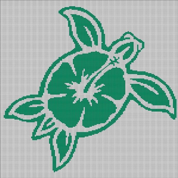 FLOWER TURTLE CROCHET AFGHAN PATTERN GRAPH