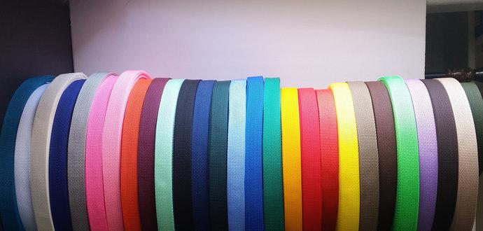 "1"" Webbing, 10+ yards, 30 colors | Polypropylene webbing, lightweight nylon"