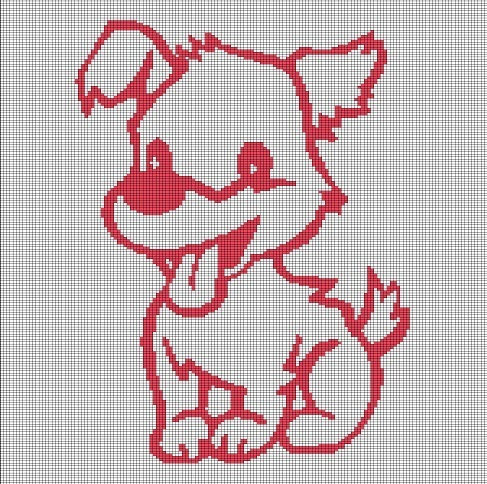 PUPPY CROCHET AFGHAN PATTERN GRAPH