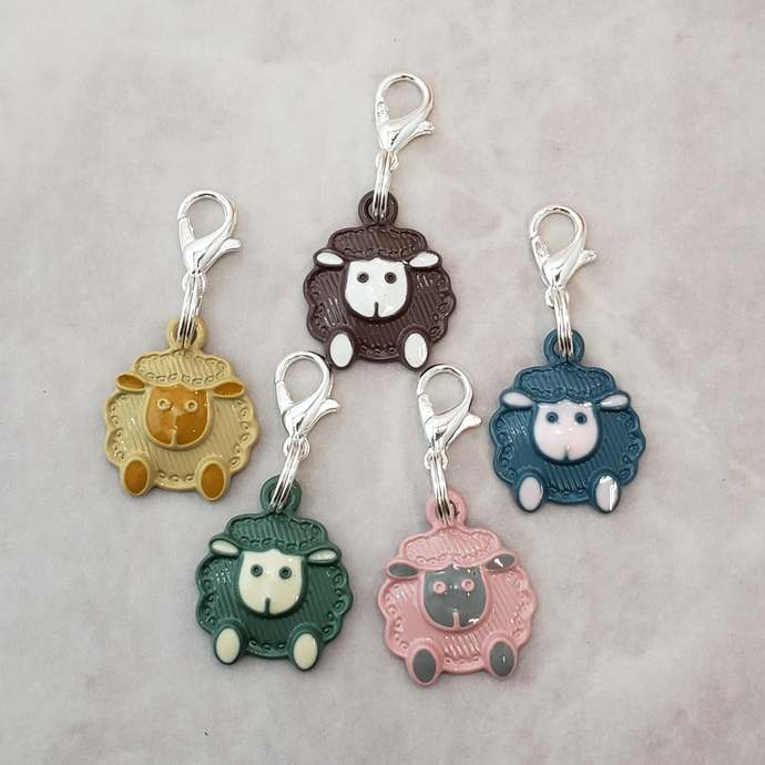 Sheep Stitch Markers for Knitting 5pc Fluffy | Crochet stitch marker, progress