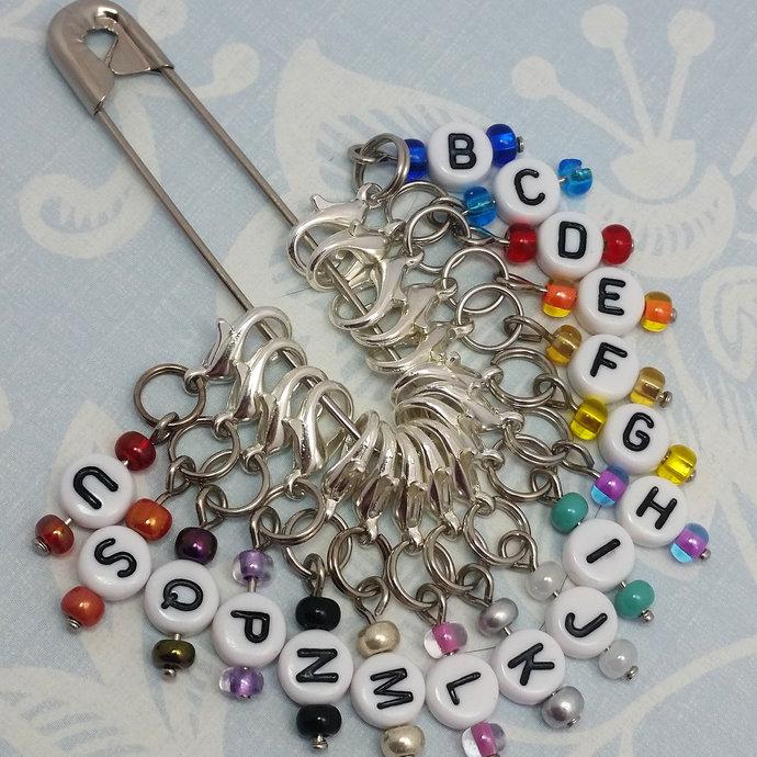 Crochet hook markers, hook size reminder stitch markers | crochet stitch