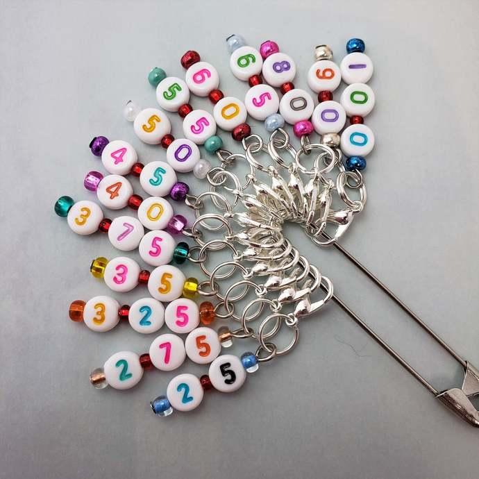 Metric Crochet hook size reminder stitch marker | custom crochet hook marker,