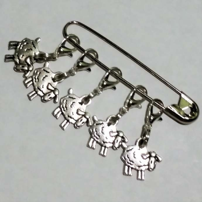 Sheep Stitch Markers 5 or 10 pc | progress keepers, Knitting project bag charm,