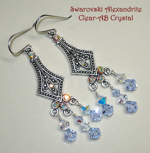 Swarovski Alexandrite Chandelier Earrings