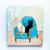 The Turquoise Chair Original Cat Folk Art Painting