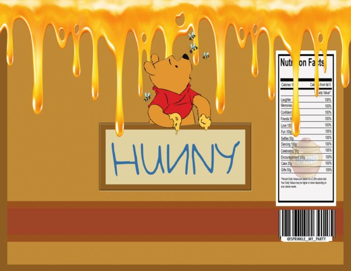 Read Description -Instant Download - Winnie the Pooh Chip Bag - Digital File -