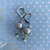 Powder Blue and Silver, beaded Earrings 2125