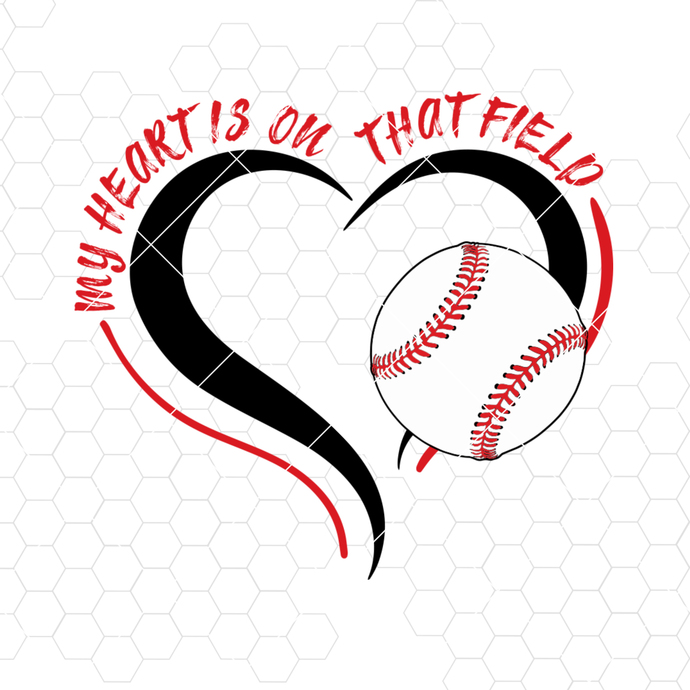 My Heart Is On That Field Digital Cut Files Svg, Dxf, Eps, Png, Cricut Vector,