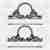 2 set Mailbox Monogram Frame Svg Png Dxf & Eps Designs Cameo File Silhouette