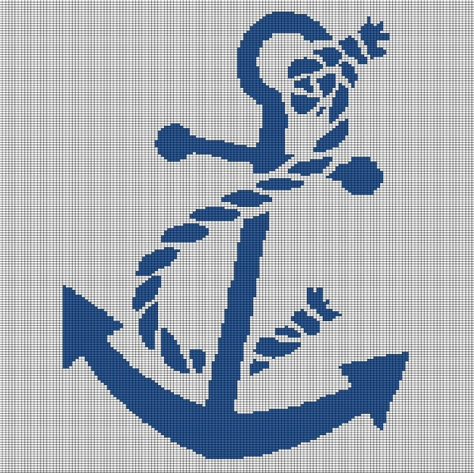 ANCHOR CROCHET AFGHAN PATTERN GRAPH