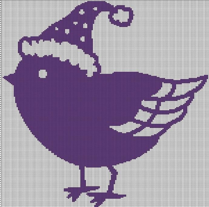 CAP BIRD CROCHET AFGHAN PATTERN GRAPH