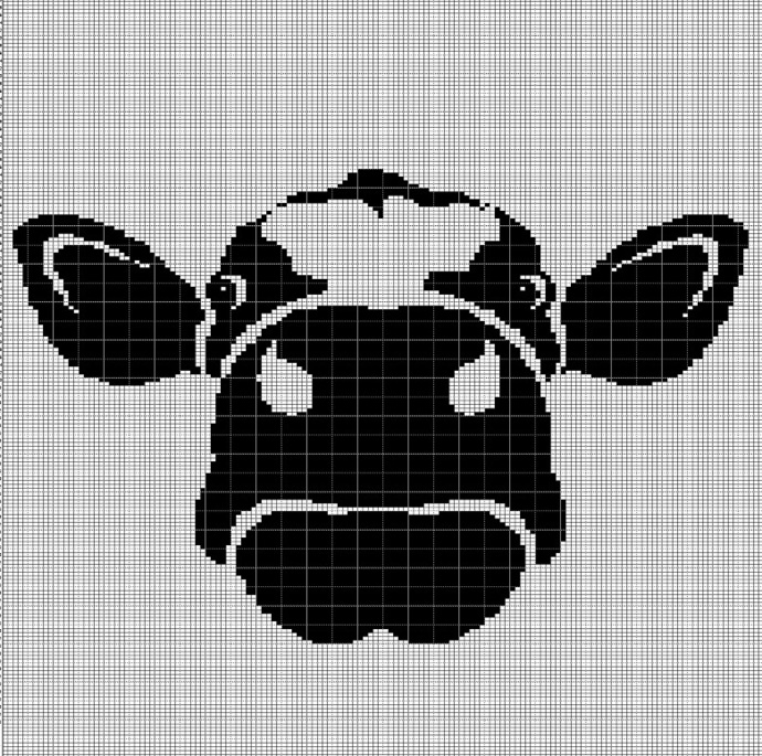 COW FACE CROCHET AFGHAN PATTERN GRAPH