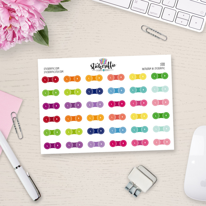 Contact Lens Case Stickers - S018