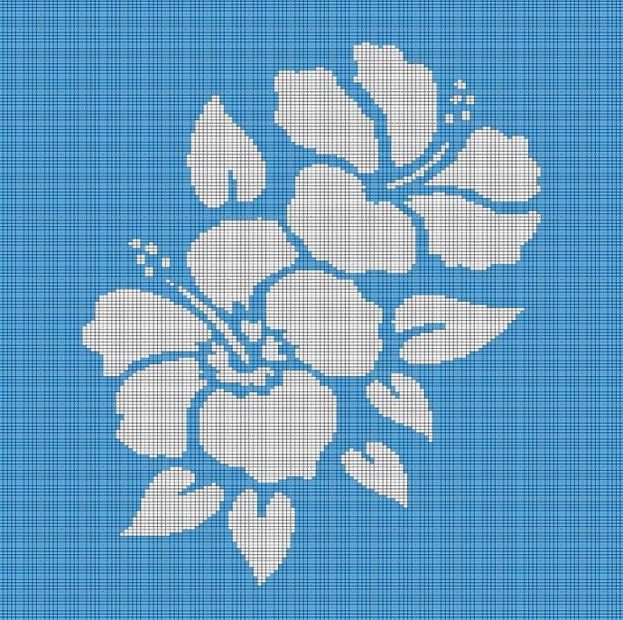 HAWAIIAN FLOWERS CROCHET AFGHAN PATTERN GRAPH