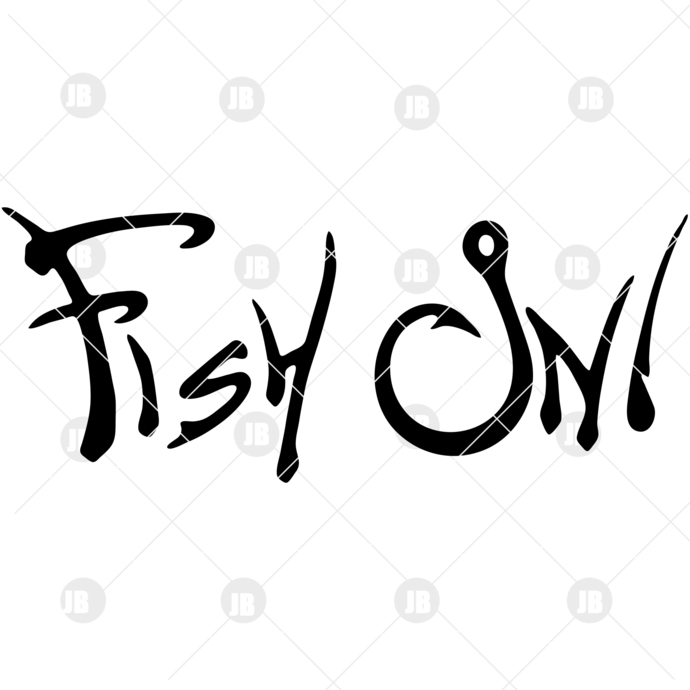 Fish On Digital Cut Files Svg, Dxf, Eps, Png, Cricut Vector, Digital Cut Files