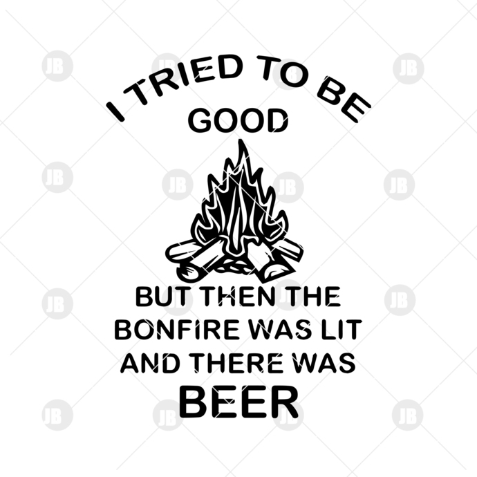 I Tried To Be Good Digital Cut Files Svg, Dxf, Eps, Png, Cricut Vector, Digital