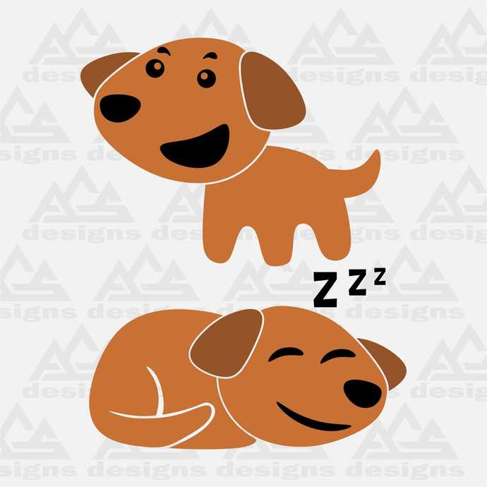 Cute Dog Svg Png Dxf & Eps Designs Cameo File Silhouette