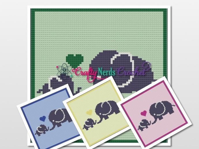 Elephant Love Pattern Graph With Mini C2C