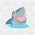Cute Shark Svg Png Dxf & Eps Designs Cameo File Silhouette