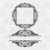 Floral Vintage Split Frame Svg Png Dxf & Eps Designs Cameo File Silhouette