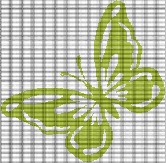 LIME GREEN BUTTEYRFLY CROCHET AFGHAN PATTERN GRAPH