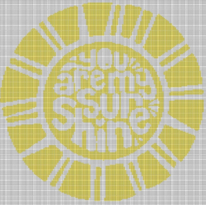 YOU ARE MY SUNSHINE CROCHET AFGHAN PATTERN GRAPH
