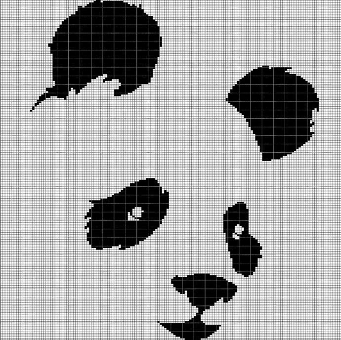PANDA HEAD CROCHET AFGHAN PATTERN GRAPH