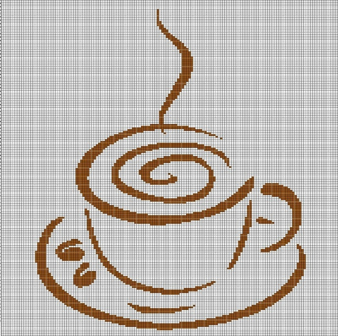 A CUP OF COFFEE CROCHET AFGHAN PATTERN GRAPH