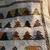 Quilted Forest of Trees - evergreen trees, northern forest, pebbles, cabin in