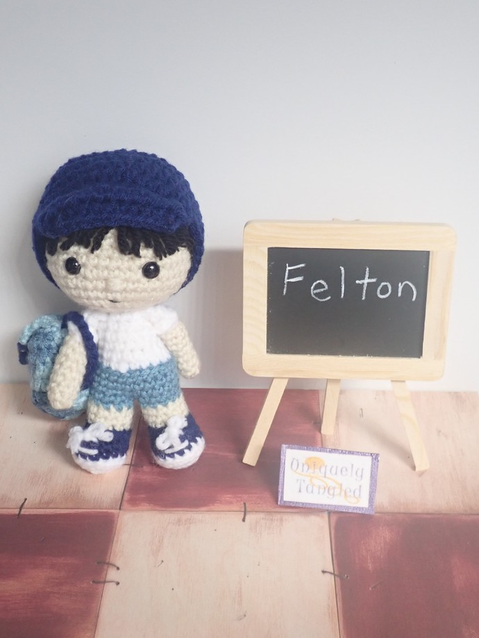 Felton Goes To School- Crochet Amigurumi Pattern- PDF