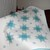 Aqua Blue and White - 2 color quilt - clean and simple Wedding Gift