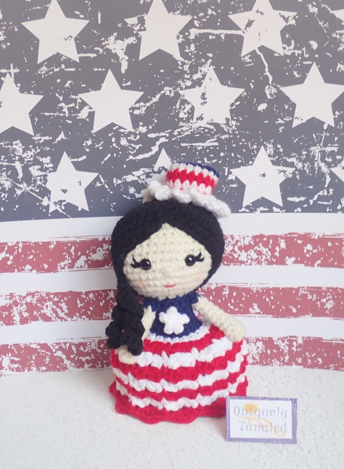 Betsy the Partiotic Girl-Crochet Amigurumi Pattern PDF