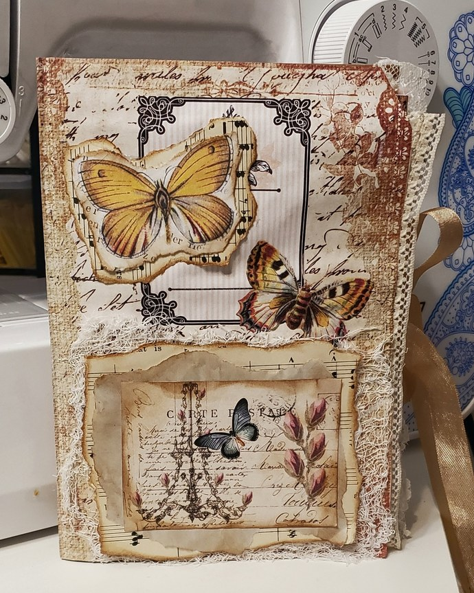 Butterfly themed journal folio