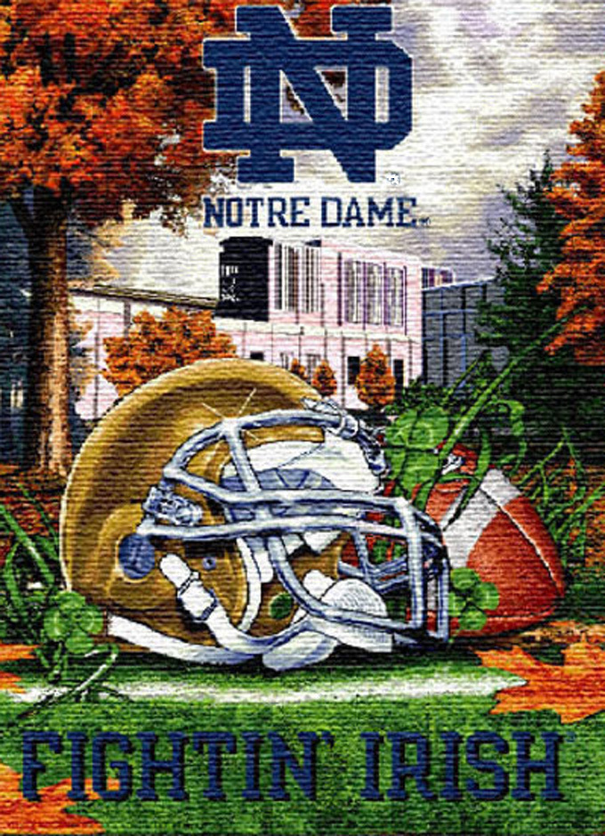 Notre Dame Irish Home Field Cross Stitch Pattern***LOOK*** INSTANT***DOWNLOAD***