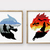 Wolf and Dragon counted cross stitch pattern movie book animal wolf tv show
