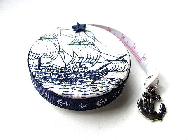 Tape Measure Tall Ships  and Anchor Retractable Measuring Tape