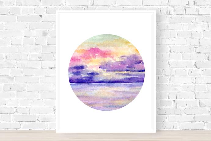 Pink Sunset Print