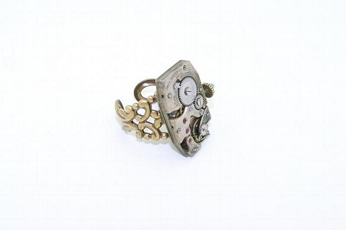 Ibex Steampunk Ring