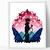 Modern silhouette cross stitch pattern, valley, anime inspired, movie cross
