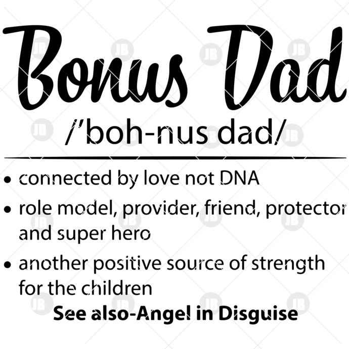 Bonus Dad Digital Cut Files Svg, Dxf, Eps, Png, Cricut Vector, Digital Cut Files