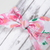 Adult Retro Bow Headband - Watercolor Roses