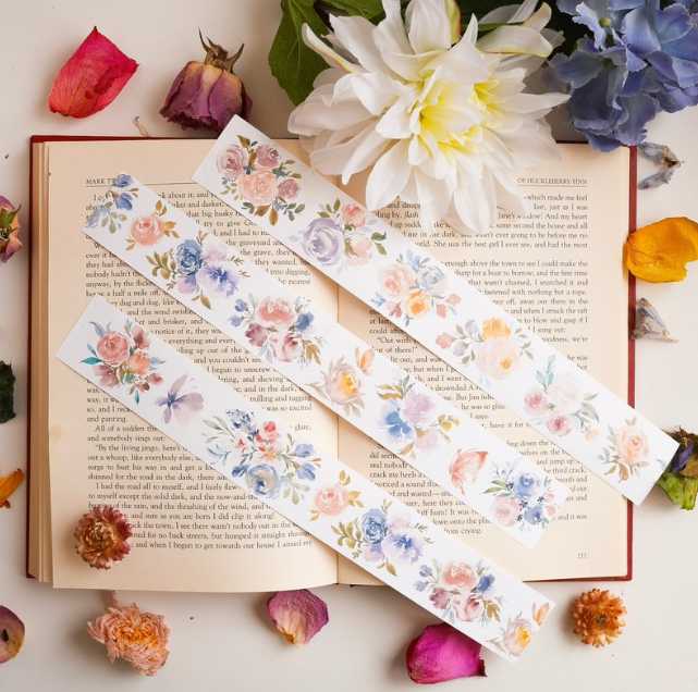 Meow Illustration washi tape - Magical Blossom - 4 cm wide masking tape