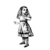 Alice Scared - Vinyl Wall Decal - Various Sizes Available