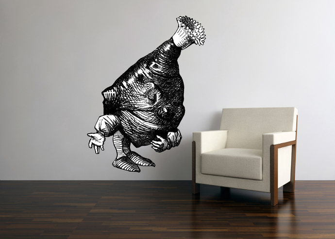 Leg of Mutton - Alice in Wonderland - Vinyl Wall Decal - Various Sizes Available