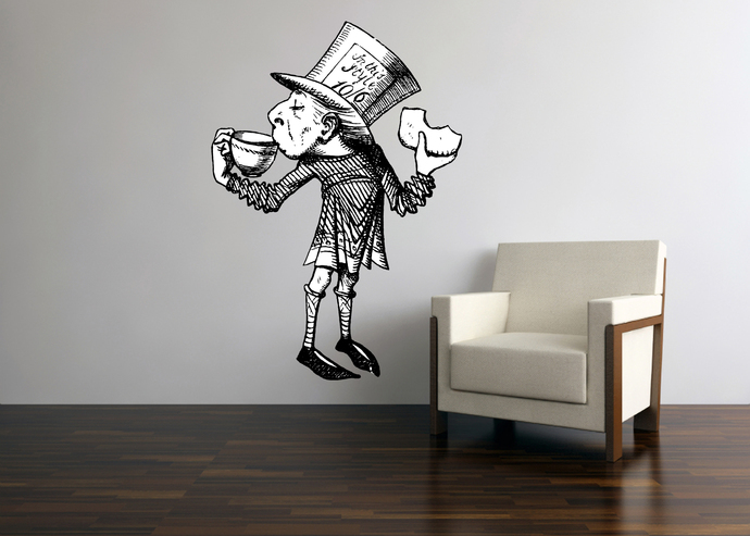 Mad Hatter - Alice in Wonderland - Vinyl Wall Decal - Various Sizes Available