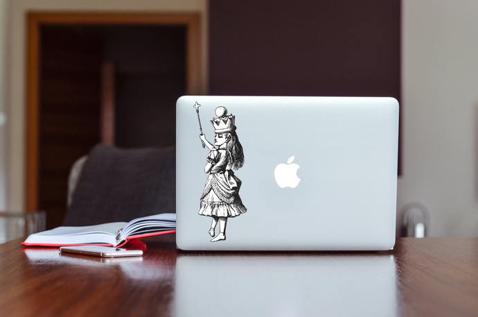 Queen Alice with a Scepter - Alice in Wonderland - Vinyl Wall Decal - Various