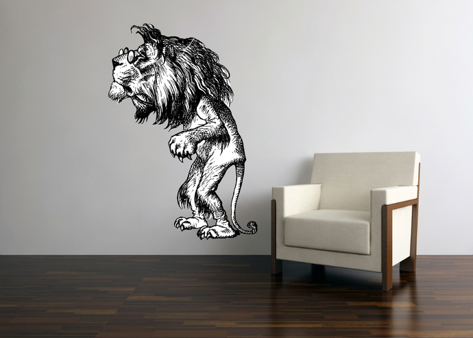 The Lion - Alice in Wonderland - Vinyl Wall Decal - Various Sizes Available